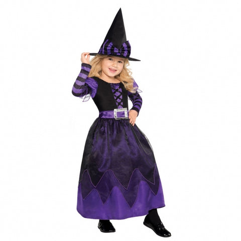 Children Purple Be Witched Costume - Age 4-6 Years