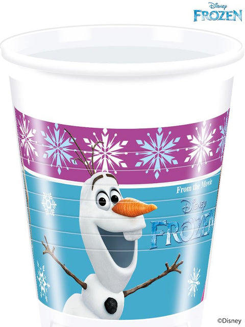 Disney Frozen Northen Lights Cups Tableware Birthday Party Princess Supplies