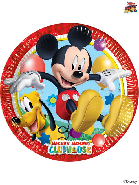 Mickey Mouse Paper Plates 23Cm Pack Of 8 Boys Girls Children  'S Birthday Party