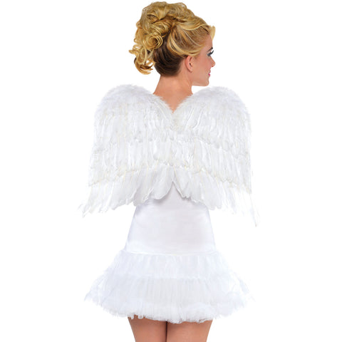 White Feather Adult Wings 56Cm