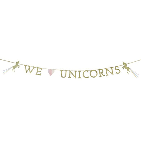 We Love Unicorns Garland