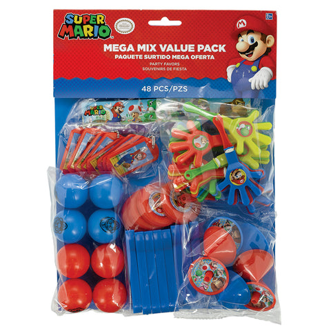 Super Mario Mega Mix Value Pack 48 Pieces Party Favors