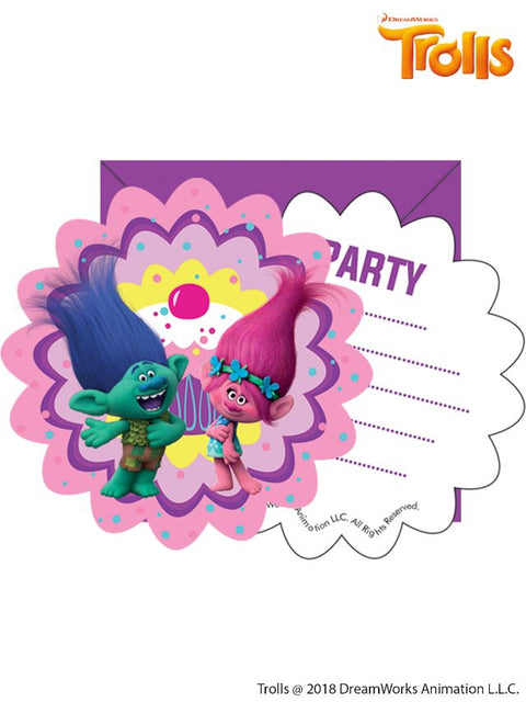 Trolls 6 Party Invitations