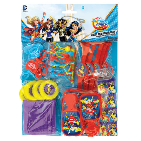 48 Piece Dc Super Hero Girls Supergirl Children\'S Party Loot Gift Favour Pack