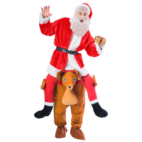 Ride A Reindeer Adults Fancy Dress Christmas Xmas Carry Me Festive Costume