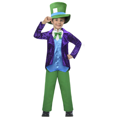 Top Hatter Costume - Age 7-8 Years