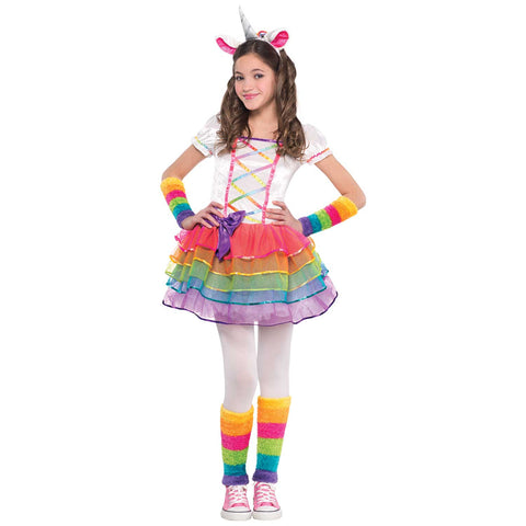 Rainbow Unicorn Costume - Age 4-6 Years