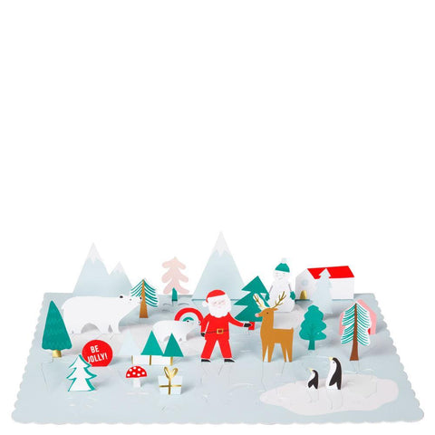 Pop-Up Santa Scene Advent Calendar