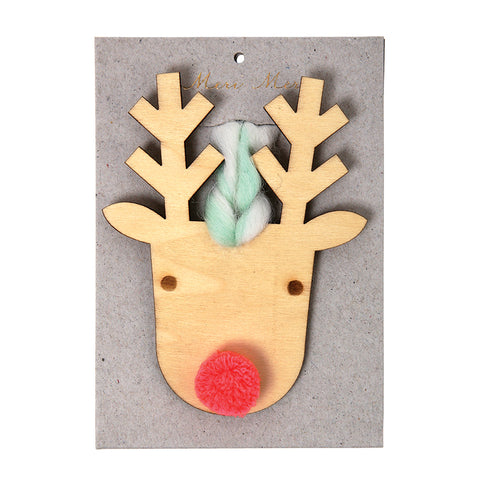 Meri Meri Etched Wooden Reindeer Decoratiop