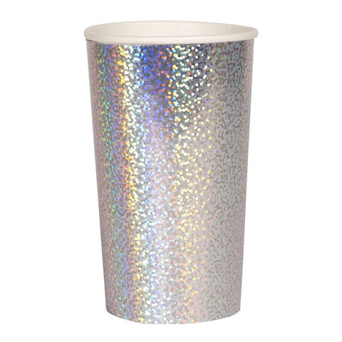 Silver Sparkle Highball Cups