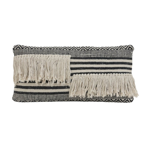 YANKOY black and white Textured Cushion
