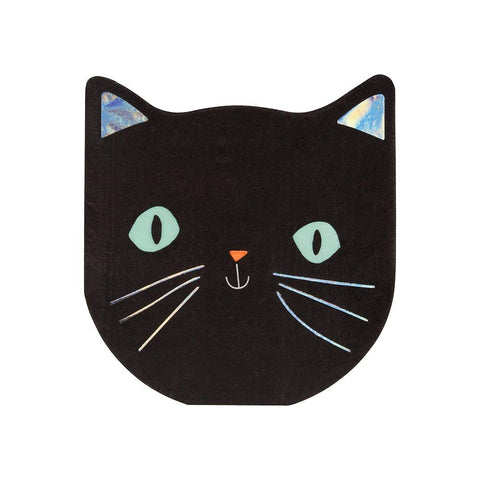 Spooky Black Cat Napkins Small
