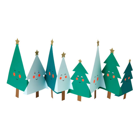 Happy Christmas Trees Concertina Card