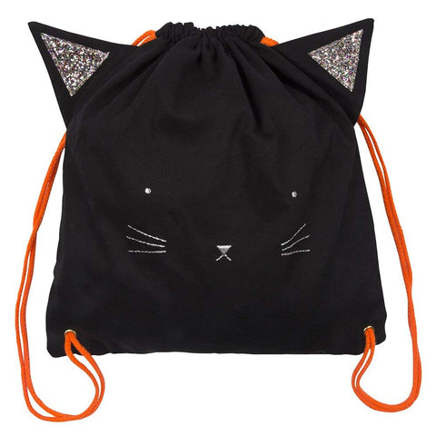 Spooky Black Cat Backpack