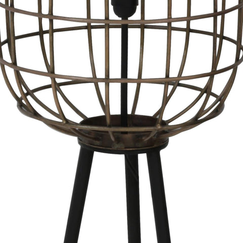 Noah Old Bronze Matted Black Floor Lamp
