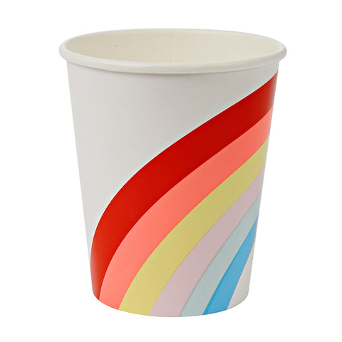 12 Rainbow Paper Party Cups