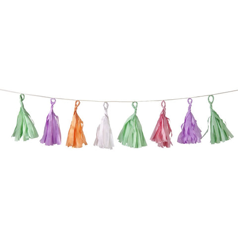 Pastel Coloured Tassel Garland Hanging Party Decoration  12M