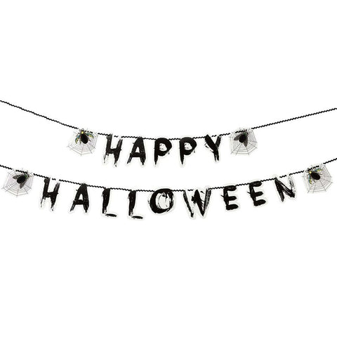 Halloween Garland With Honycomb Bugs And Cobwebs