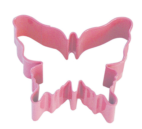 "R&M Butterfly 3.25"" Cookie Cutter Pink With Brightly Colored, Durable, Baked-On"