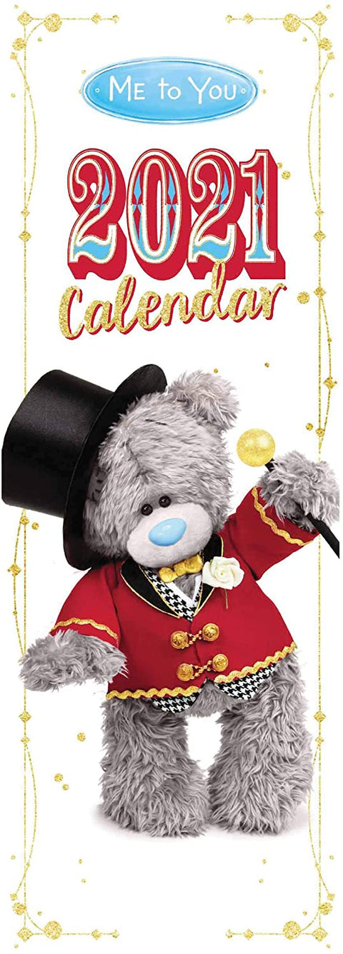 Me To You Tatty Teddy in a hat Slim Calendar 2021