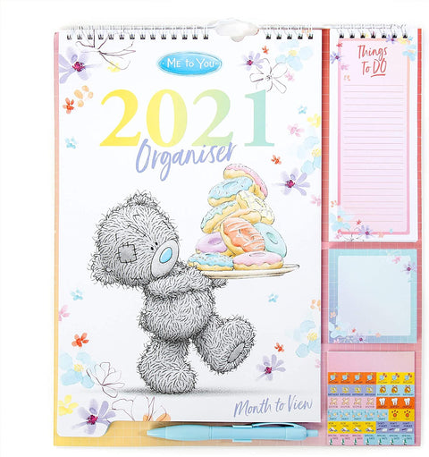 Me to You Household Planner 2021 with Calendar, Stickers, Shopping/Things to Do List & Sticky Notes