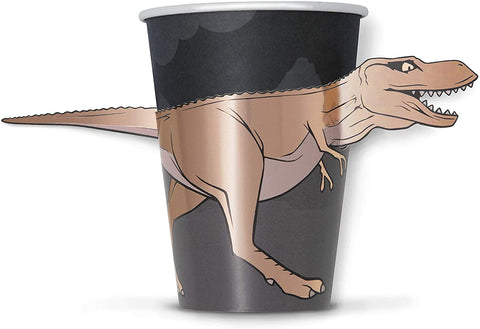 Dinosaur Paper Party Cups 8 per pack