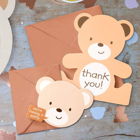 Teddy Bear Invitation and Thank you Bundle