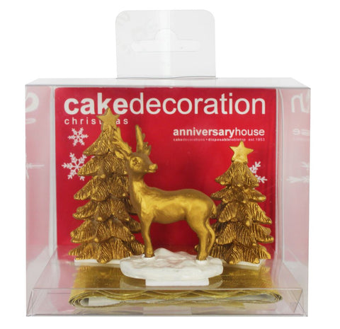 Luxury Boxed Gold Stag Scene