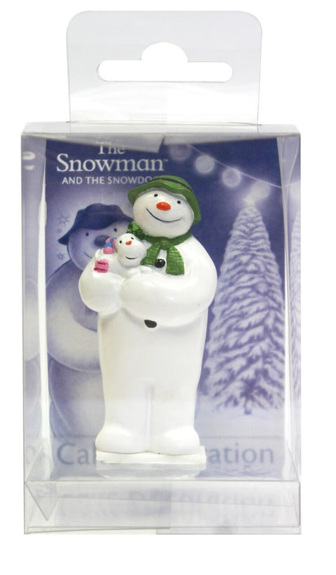 The Snowman™ Holding The Snowdog Resin Topper