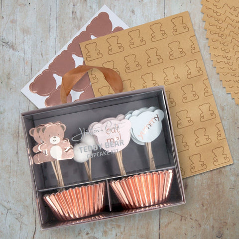 Hatton Gate Teddy Bear Cupcake Kit and Bag Pack