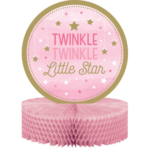 Twinkle Little Star - Pink Baby Shower Honeycomb Centrepiece,Girl,Party Supplies