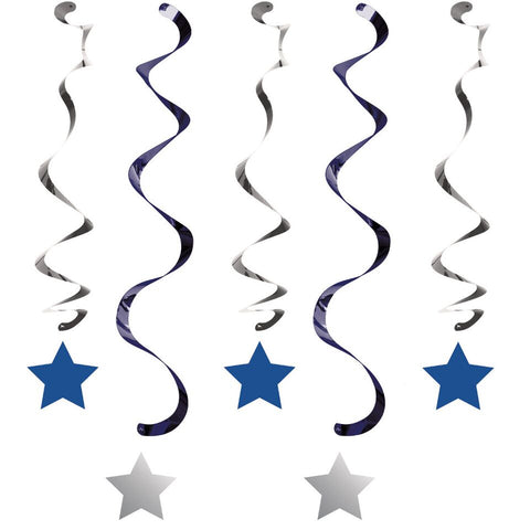 "1St (Age 1) Birthday Party Blue ""Twinkle Little Star"" Dizzy Dangler Decorations"