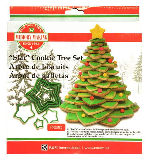 Cookie Cutter Set 3D Star Christmas Tree (Plastic)