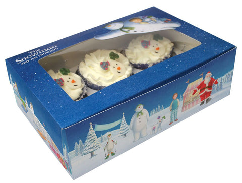 The Snowman And The Snowdog Cupcake Or Mince Pie Boxe