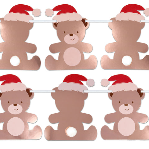 Teddy Bear Shaped Christmas Bunting - 3.5 metres