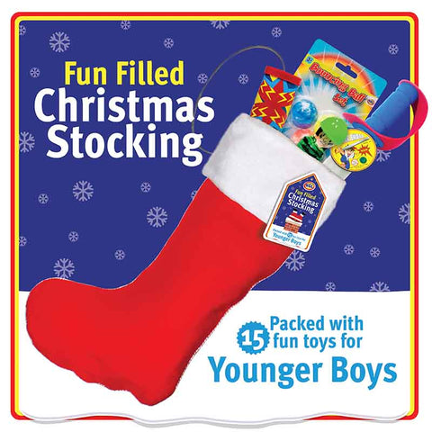 Younger Boys Value Pre Filled Christmas Santa Stocking