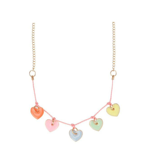 Enamel Hearts Necklace