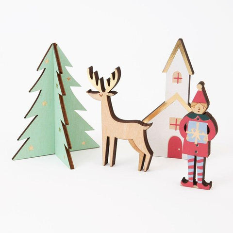Festive Village Wooden Advent Calendar