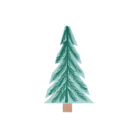 Tree Shaped Woodland Party Napkins