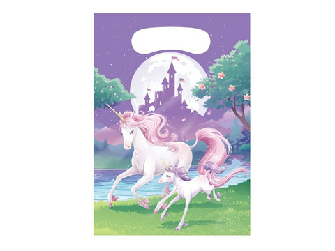 Unicorn Fantasy Favor Loot Bags (8 Pack) - Party Supplies