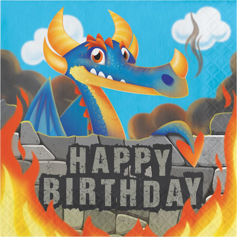 16Ct Dragon Birthday Napkins