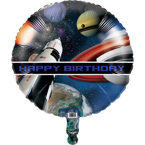 "Space Blast Happy Birthday 18"" Balloon (Each)"