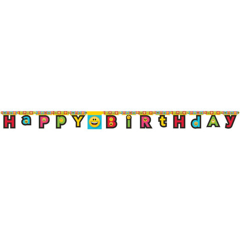 Emojion Emoji Jointed Banner Birthday Party Supplies Decoration