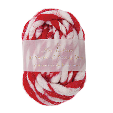 Stripy Wool - Red / White