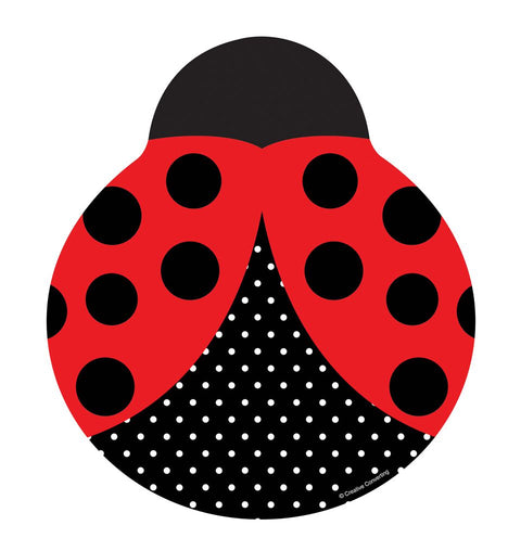 Converting Ladybug Fancy Shaped 9-Inch Dinner Plates, 8-Count