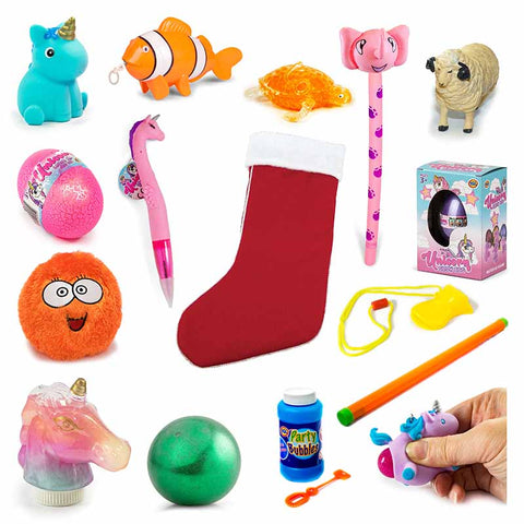 Young Girls Value Pre Filled Christmas Santa Stocking