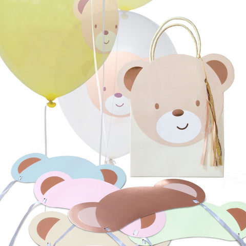 Hatton Gate Teddy Bear Party Bag, Balloons and Hats Pack