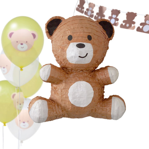 Hatton Gate Teddy Bear Piñata Balloon and Bunting Pack