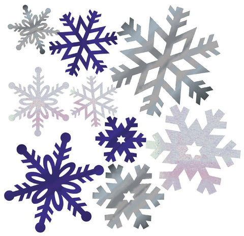 Snowflake Cutout Assortment Foil