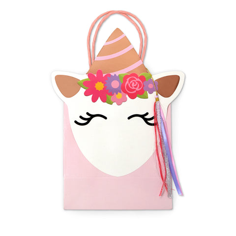 Unicorn Shaped Party Bags 8 bags per pack